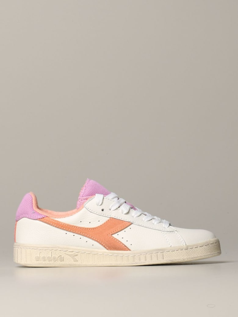 Diadora Sneakers Game L Low Sneakers Diadora In Leather With Logo - white