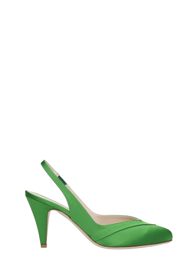 GIA COUTURE Pumps In Green Satin - green