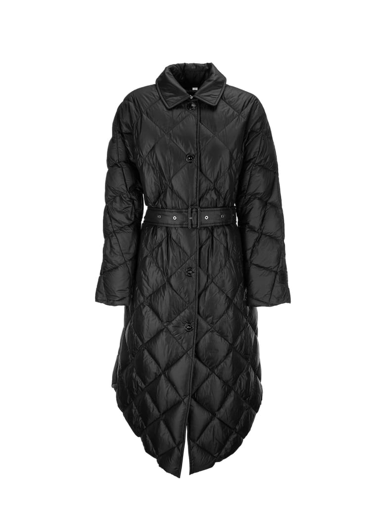 Burberry Mablethorpe - Diamond Quilted Coat In Nylon Canvas - Black