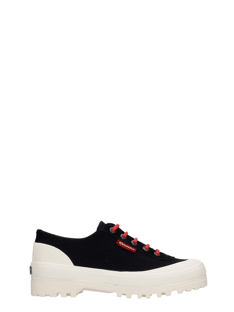 Superga Warmcotton Sneakers In Black Canvas - black