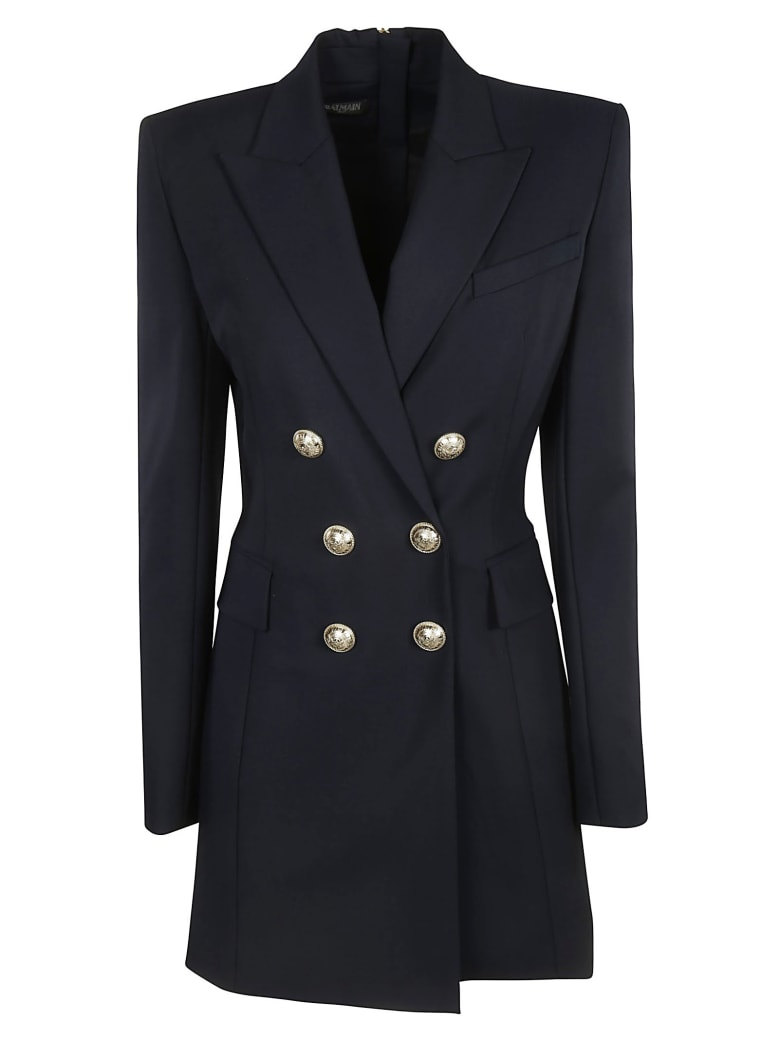 Balmain Double Breasted Buttoned Blazer - Black