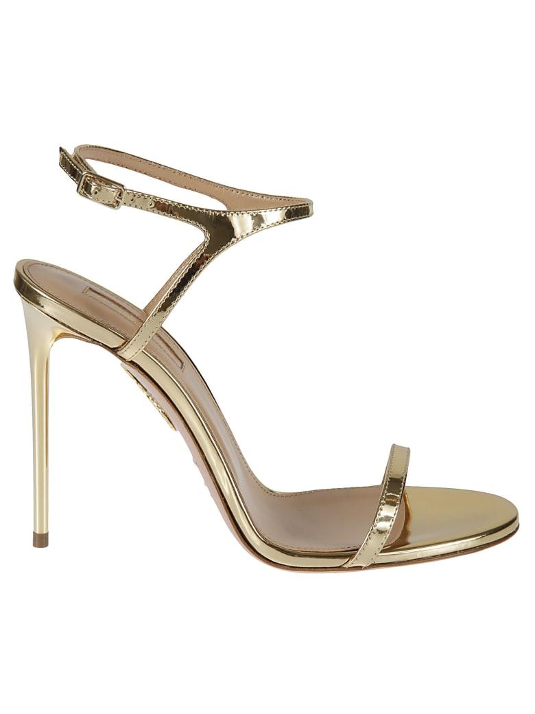 Aquazzura Naked Sandals - Soft Gold