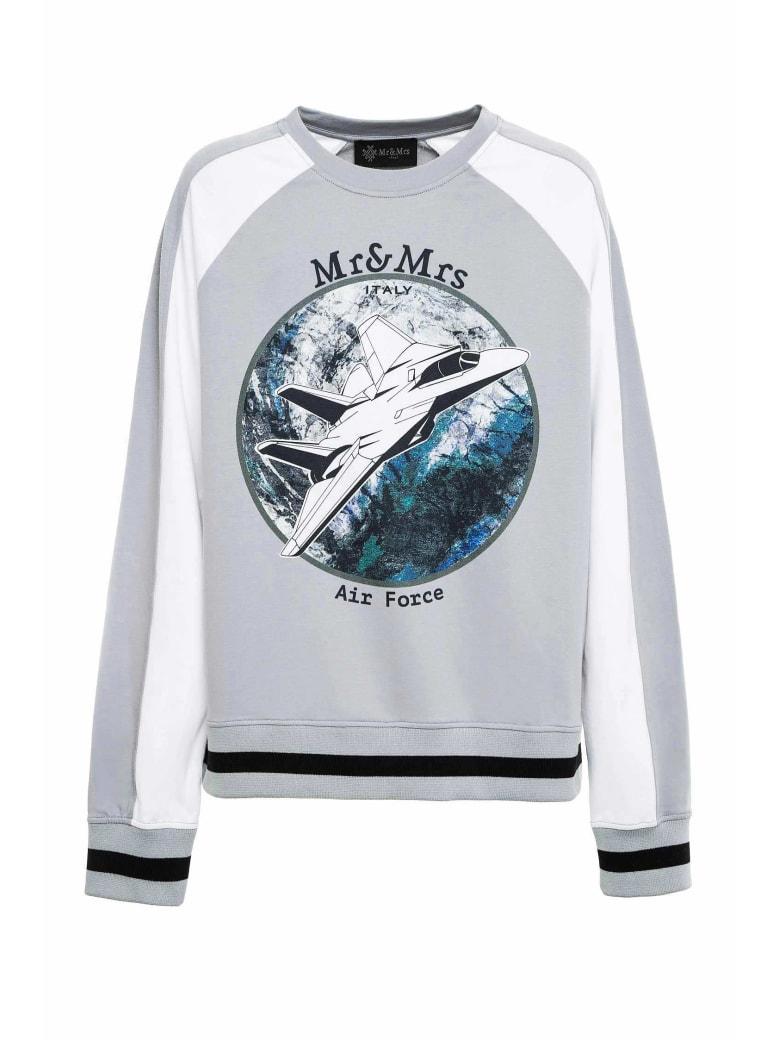 Mr & Mrs Italy Space-inspired Sweatshirt For Man - STONE GREY/WHITE