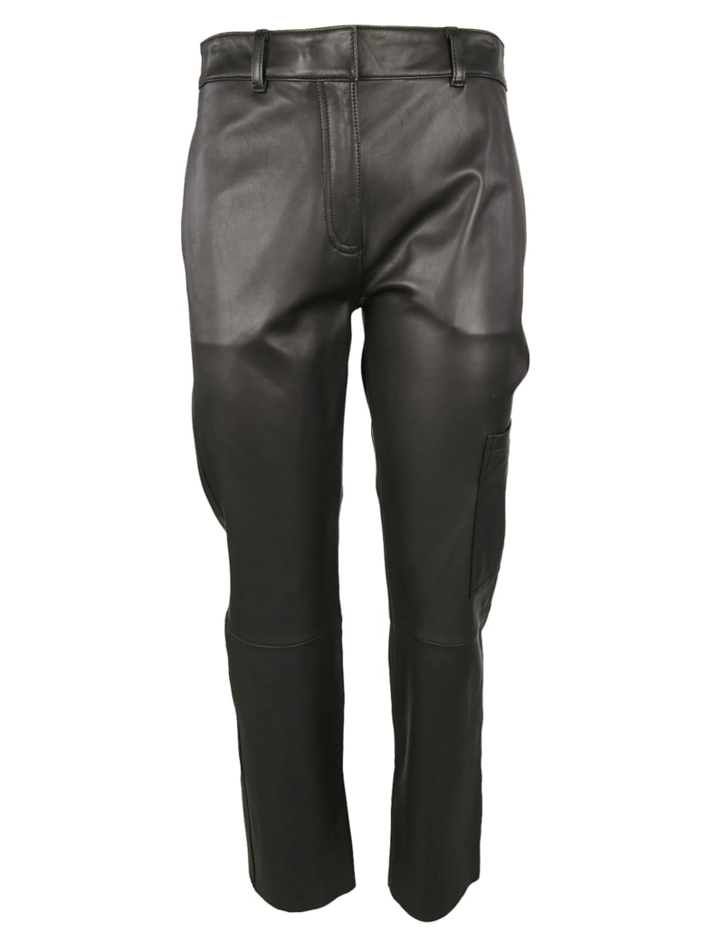 Theory Wide Leg Trousers - Black