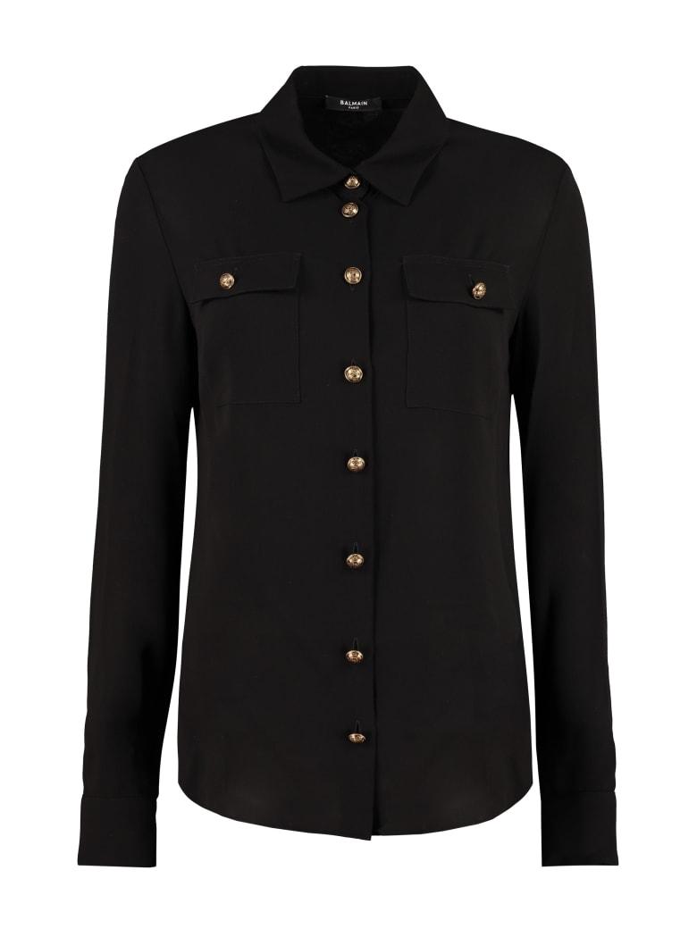 Balmain Silk Shirt - black