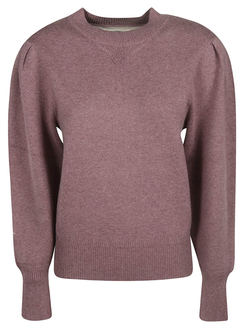 Isabel Marant Round Neck Sweatshirt - burgundy