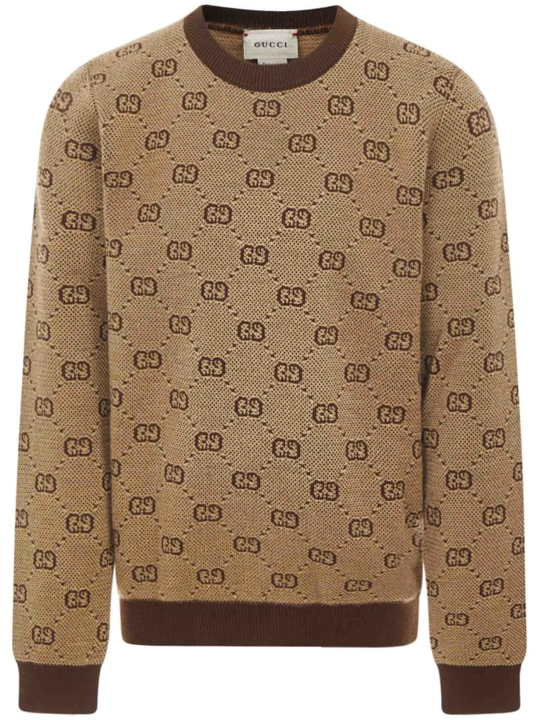 Gucci Junior Sweater - Camel/multicolor