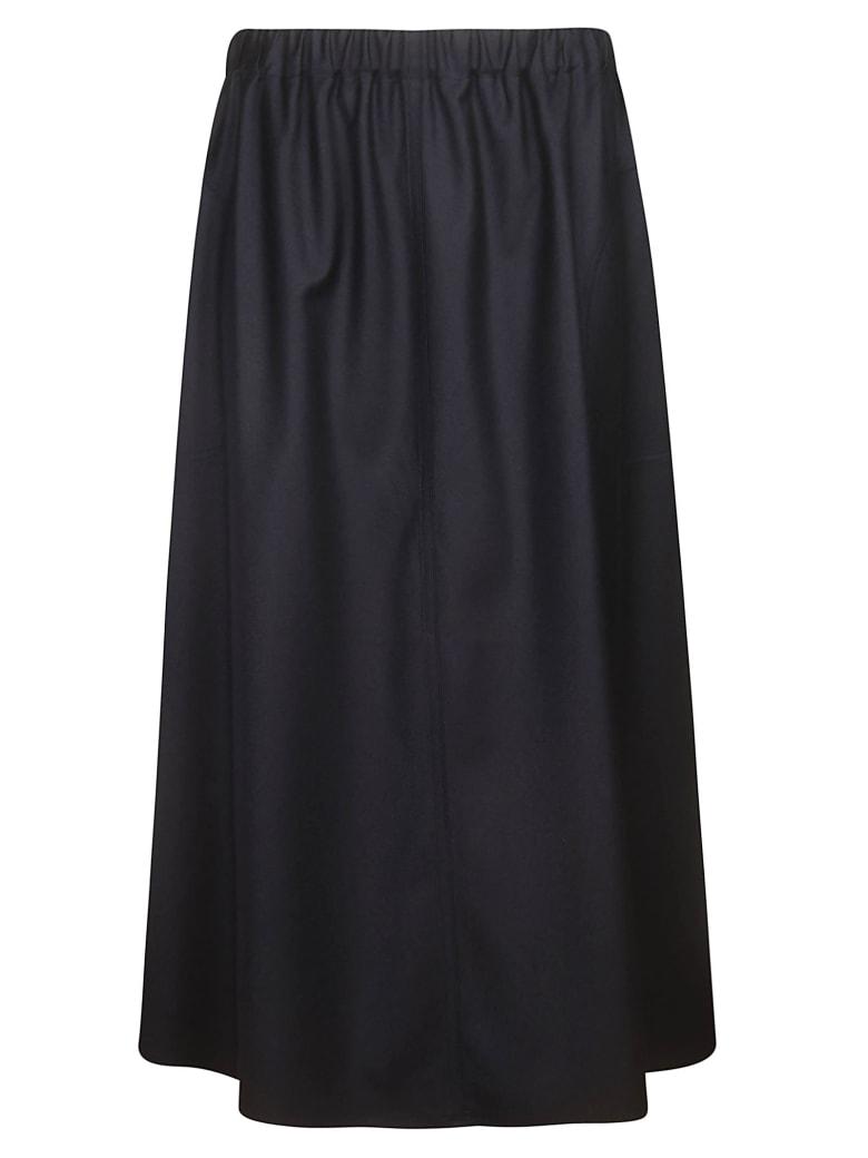 Sofie d'Hoore Light Wool Skirt - Dark Navy