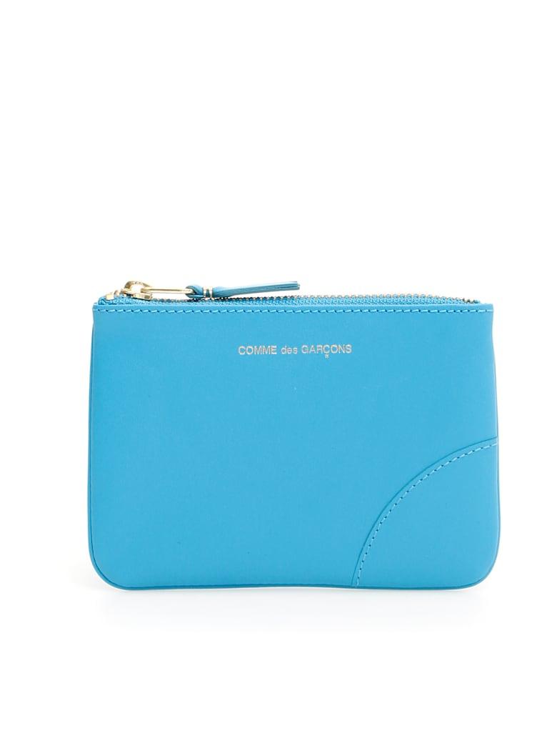 Comme des Garçons Wallet Unisex Color Block Pouch - BLUE (Blue)