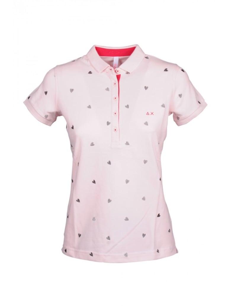 Sun 68 Sun68 Cotton Blend Polo Shirt - Pink