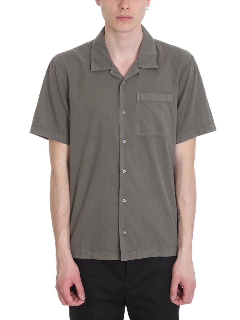 James Perse Green Cotton Shirt - green