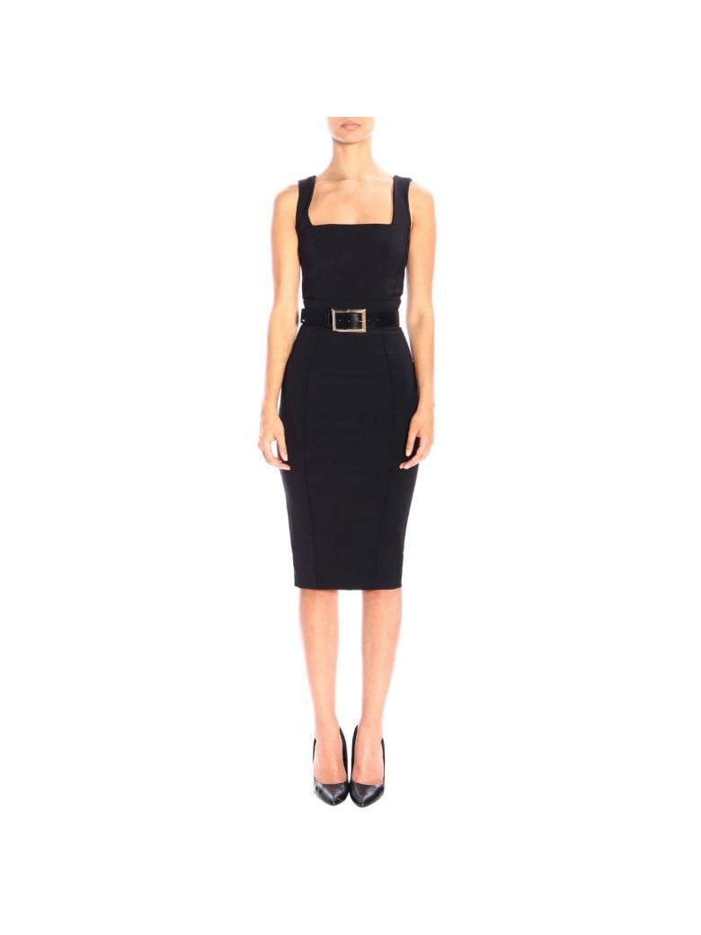 Elisabetta Franchi Celyn B. Elisabetta Franchi Dress Elisabetta Franchi Pencil Dress With Belt - black