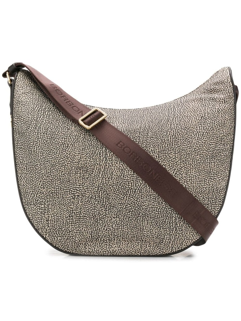 Borbonese Medium Luna Shoulder Bag - Op Classico/marrone