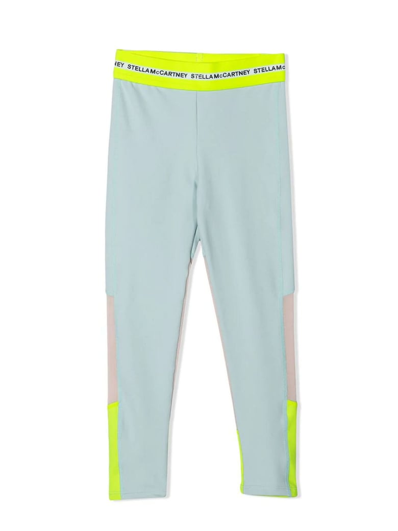 Stella McCartney Light Blue Heavy-jersey Active Leggings - Celeste