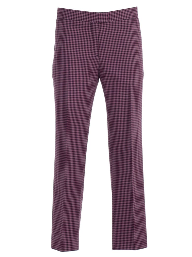 PS by Paul Smith Vichy Checked Trousers - Lilac
