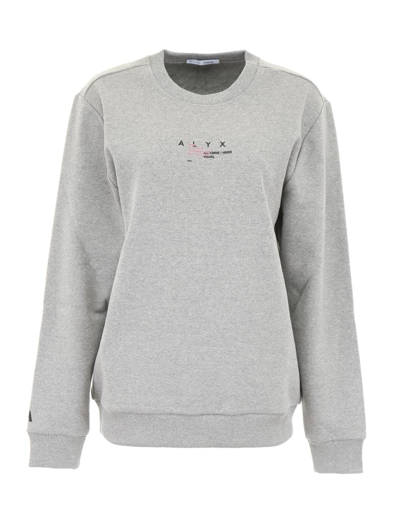 Alyx Sweatshirt With Print - GREY MELANGE (Grey)