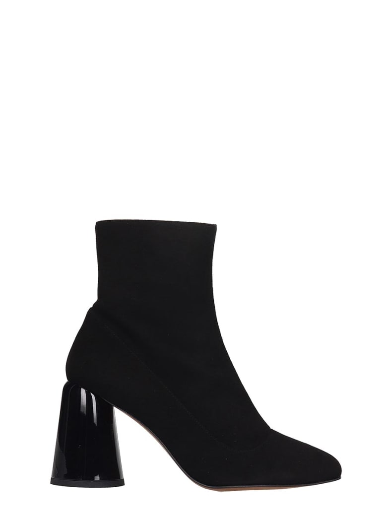 Castañer Kissa High Heels Ankle Boots In Black Suede - black