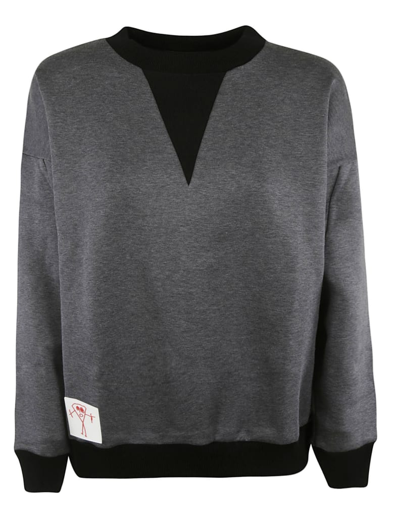 Plan C Ribbed Sweatshirt - Grey Mélange