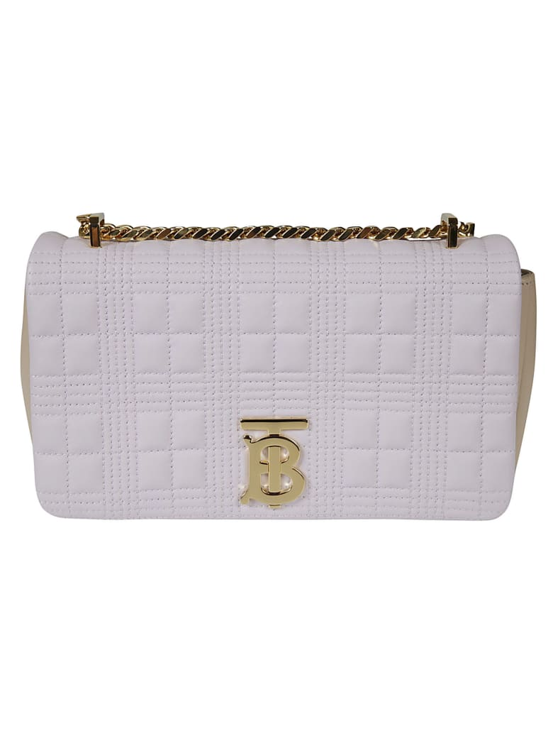 Burberry Quilted Shoulder Bag - White