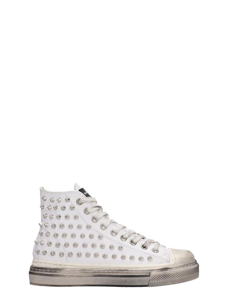 Gienchi J.m.high Sneakers In White Rubber/plasic - white