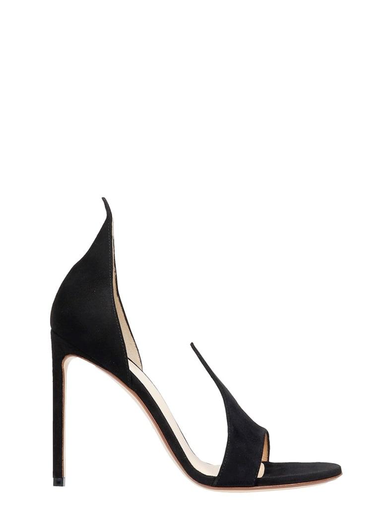 Francesco Russo Sandals In Black Suede - black