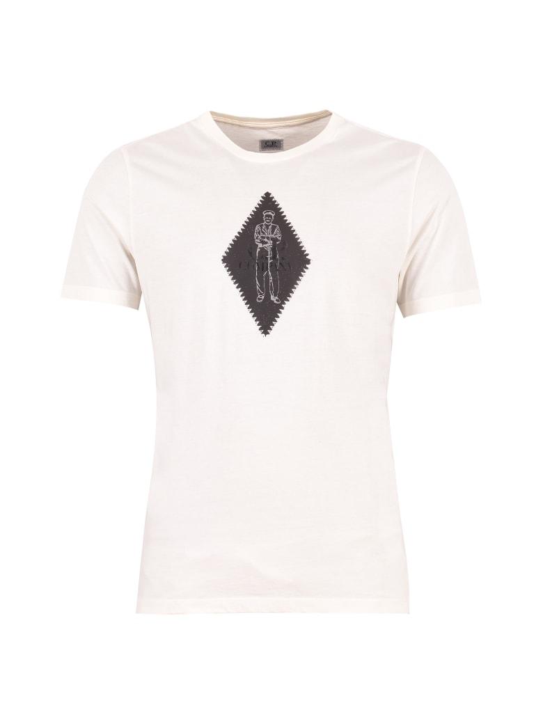 C.P. Company Printed Short Sleeves T-shirt - White