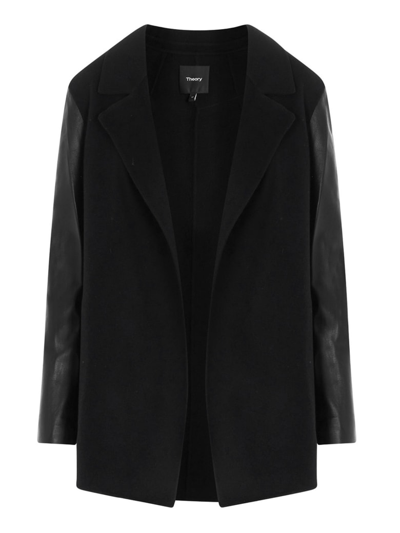 Theory 'clairene Luxe' Coat - Black
