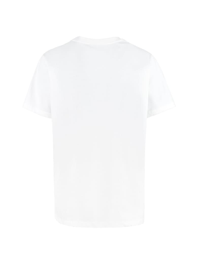 Ganni Cotton Crew-neck T-shirt - White