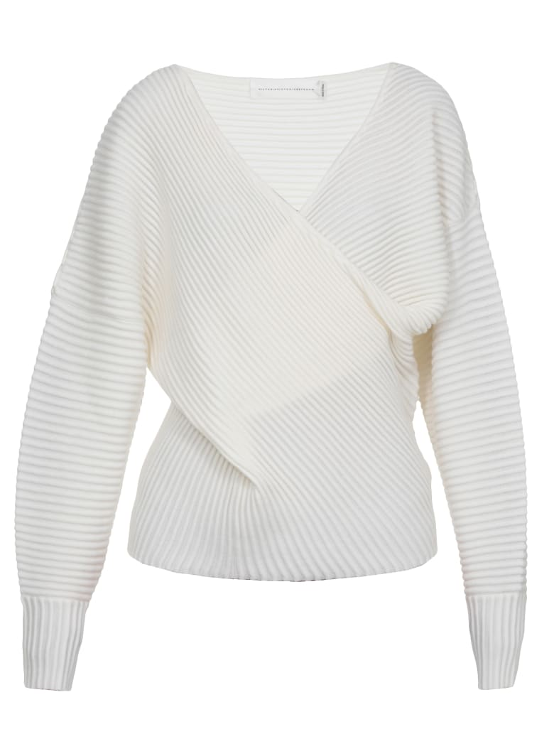 Victoria Victoria Beckham Draped Sweater - IVORY