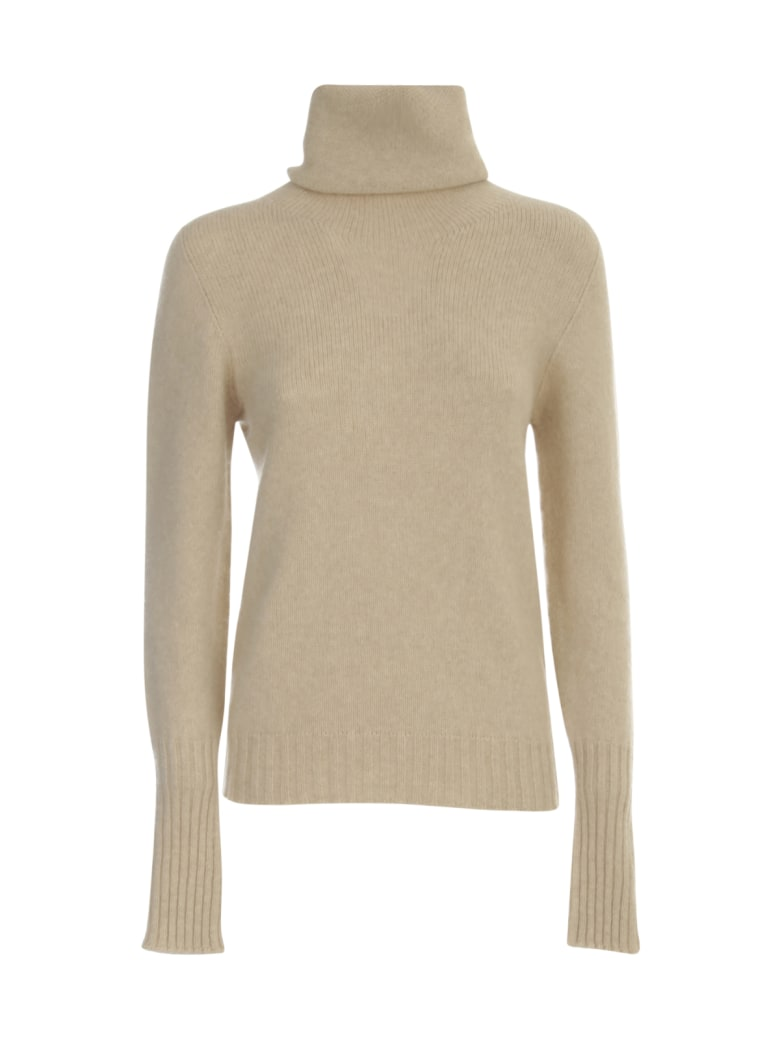 Nuur High Neck Waisted Sweater - Naturale