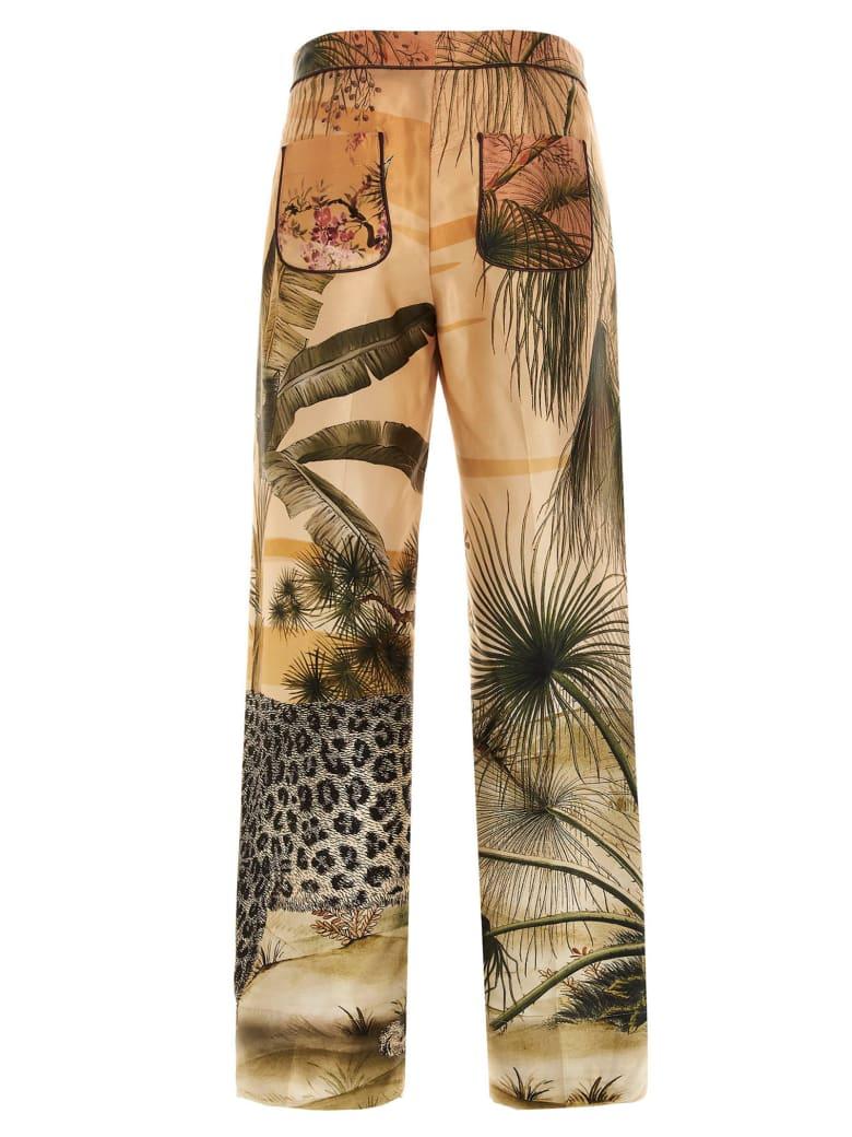 For Restless Sleepers 'jaguar In The Oasis' Pants - Verde