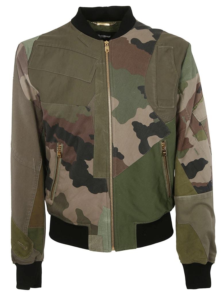 Dolce & Gabbana Camouflage Bomber - GREEN