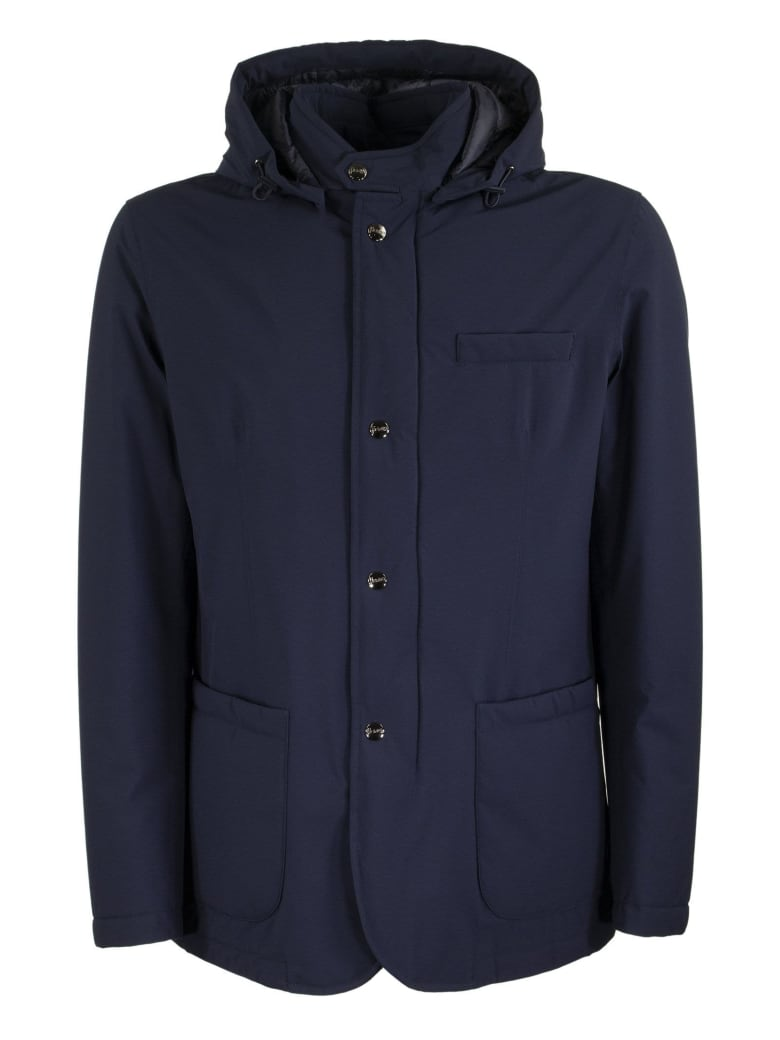 Herno Winter Jacket With Hood - Blue