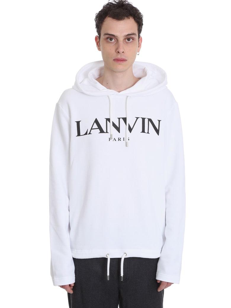 Lanvin Sweatshirt In White Cotton - white