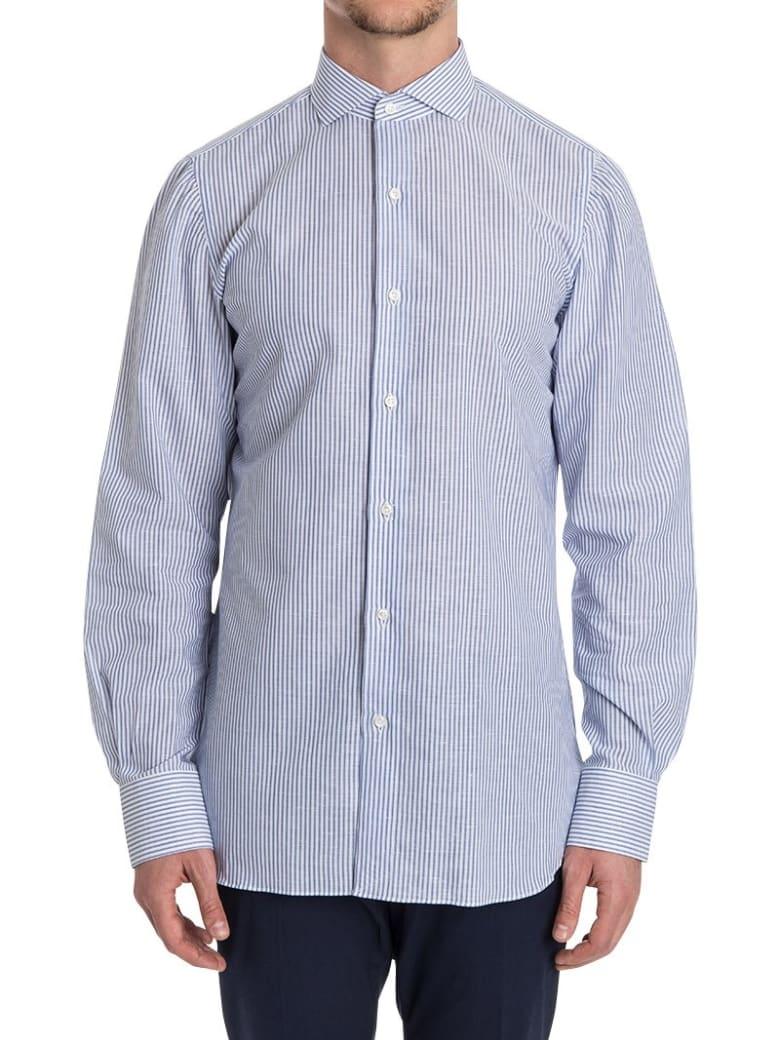 Finamore Striped Cotton Shirt - heavenly