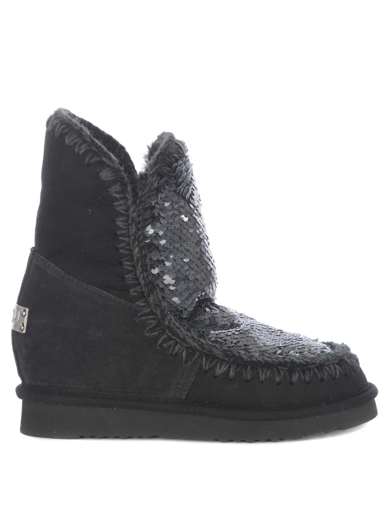 Mou Embellished Boots - Nero