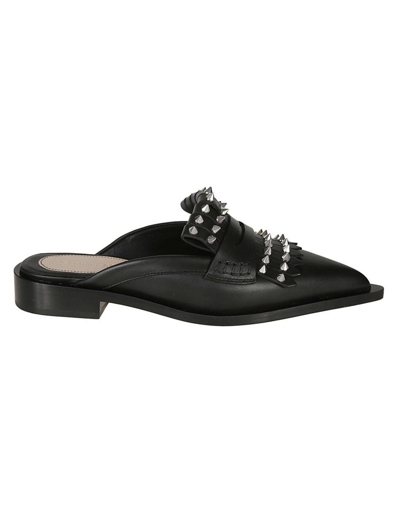 Alexander McQueen Spike Studded Mules - Black/Silver