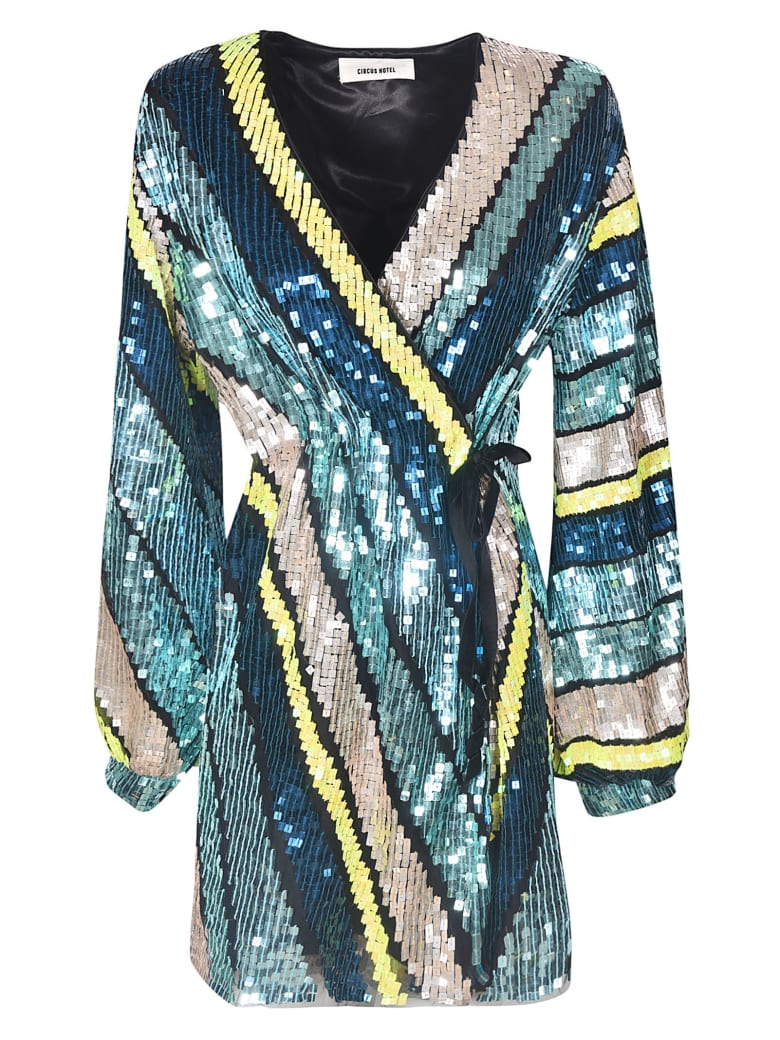 Circus Hotel Sequined Dress - Multicolor