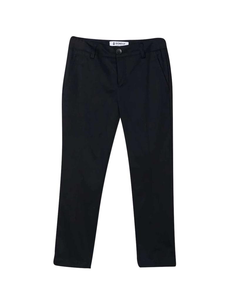 Dondup Black Straight Cut Trousers - Unica