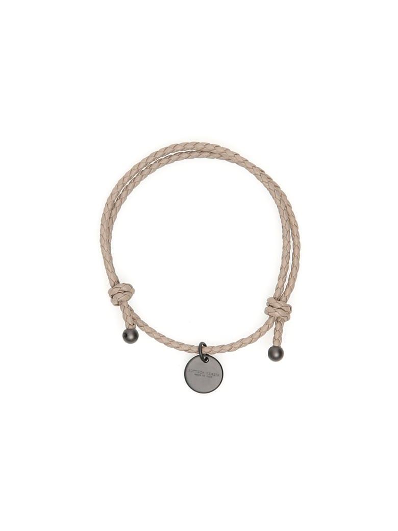 Bottega Veneta Unisex Intrecciato Bracelet With Two Knots - LIMESTONE (Grey)