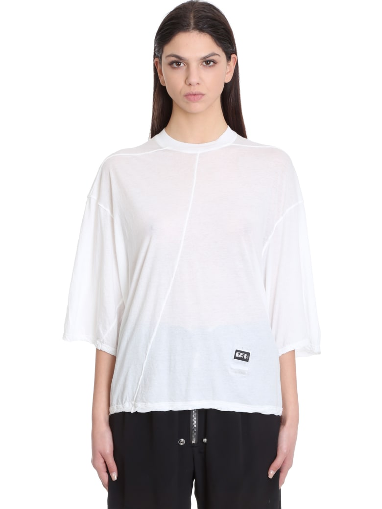 DRKSHDW Jumbo Top Topwear In White Cotton - white