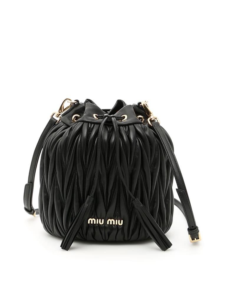 Miu Miu Quilted Bucket Bag - NERO (Black)