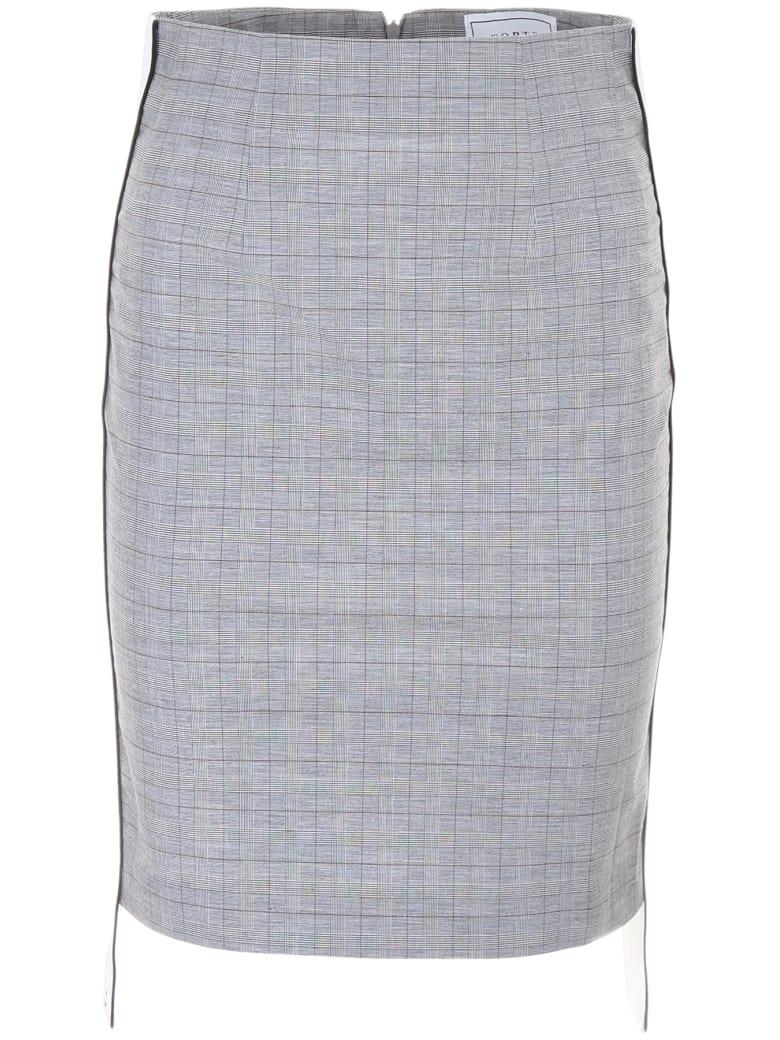 Forte Couture Midi Skirt With Logo - GREY MULTI (White)