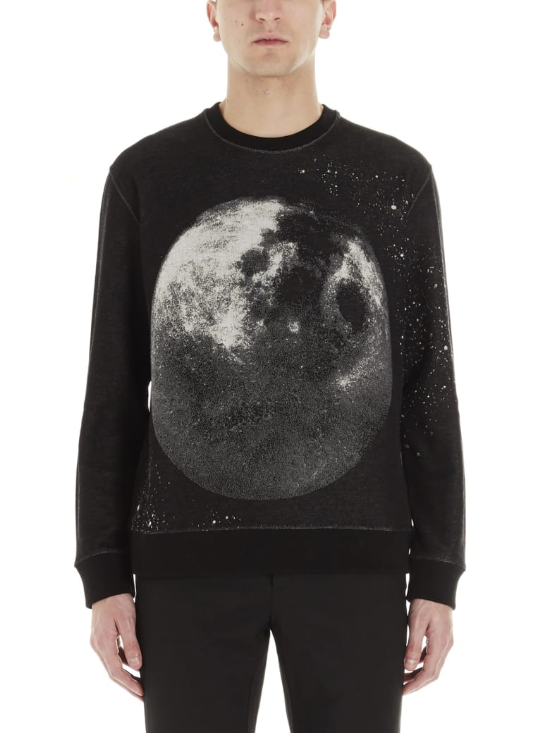 Valentino 'moon Dust' Sweatshirt - Black