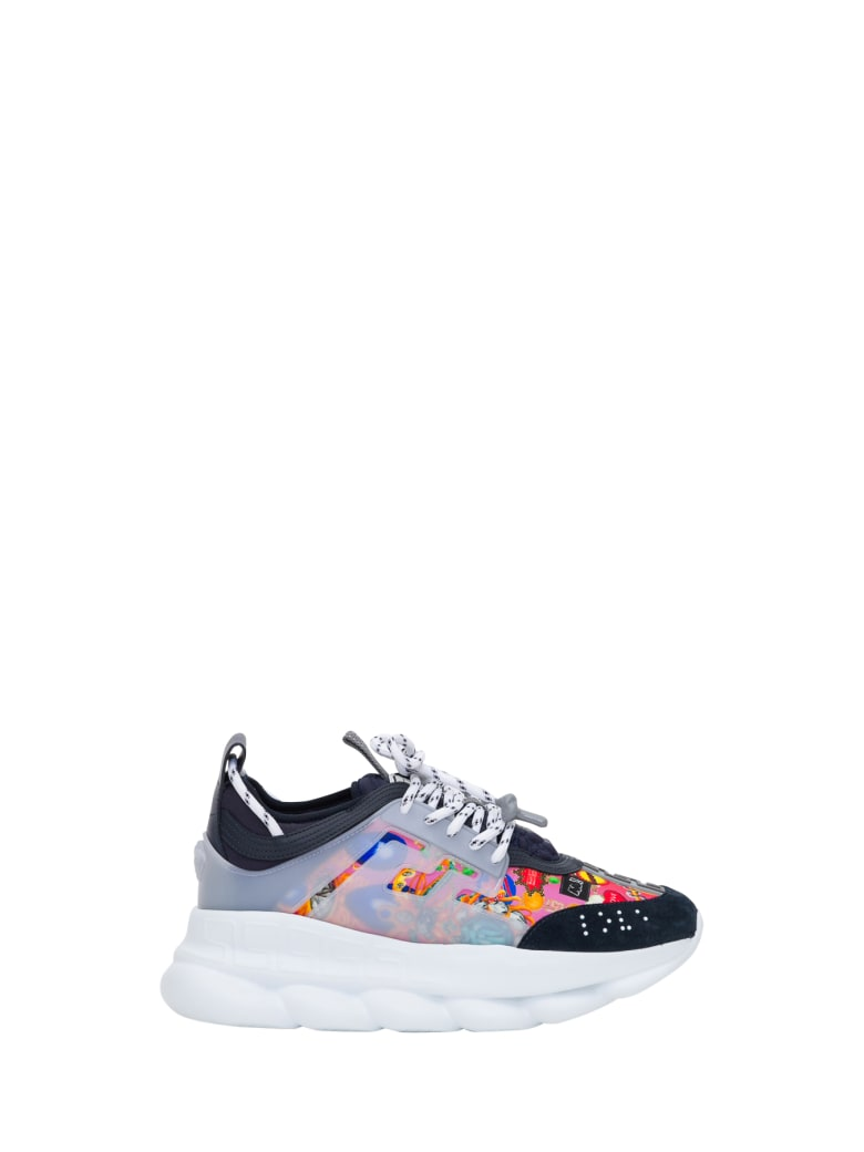 Versace Chain Reaction Sneaker Con Stampa Wild Jewels - Multicolor