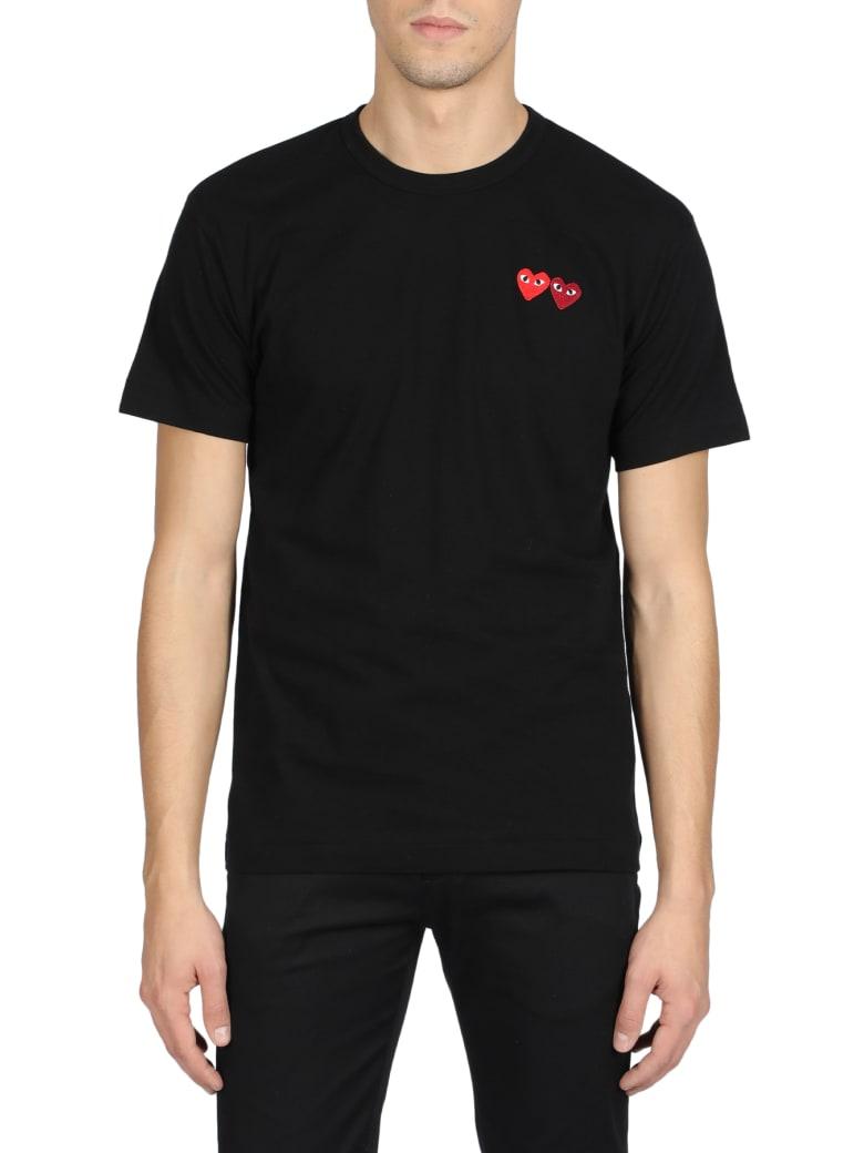 Comme des Garçons Play Short Sleeve T-Shirt - Nero