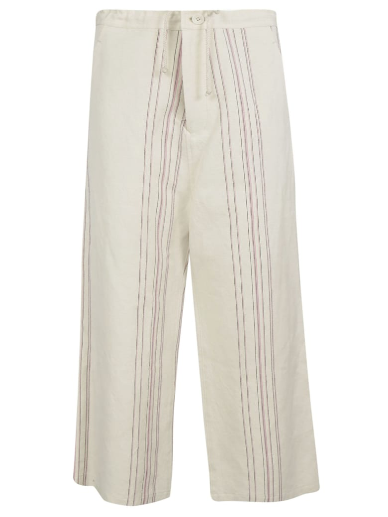 Y's Cropped Trousers - White