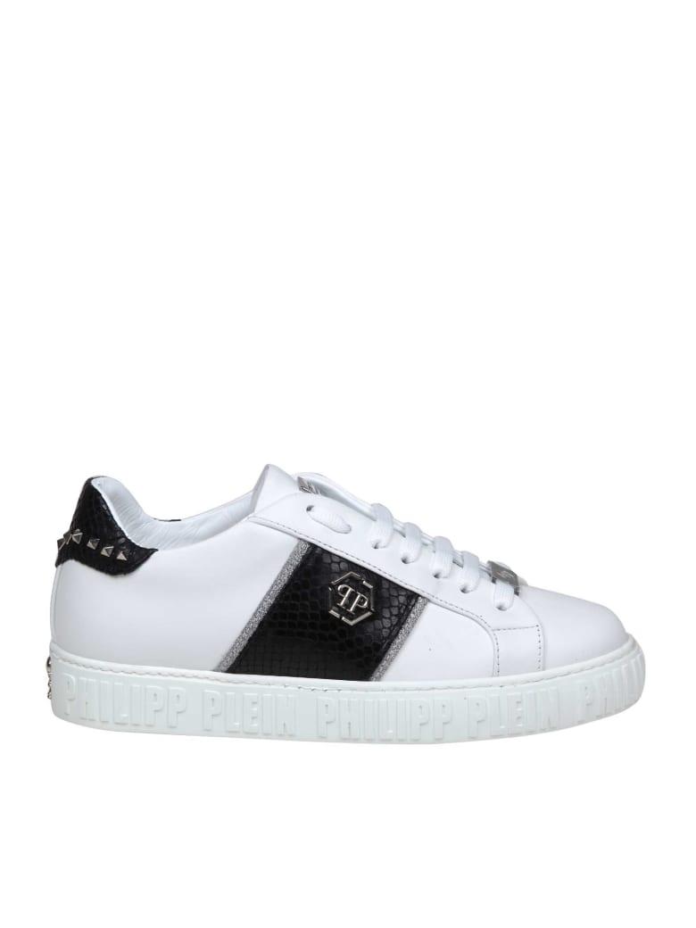 Philipp Plein Sneakers Lo-top Studs In White Leather - White/Black