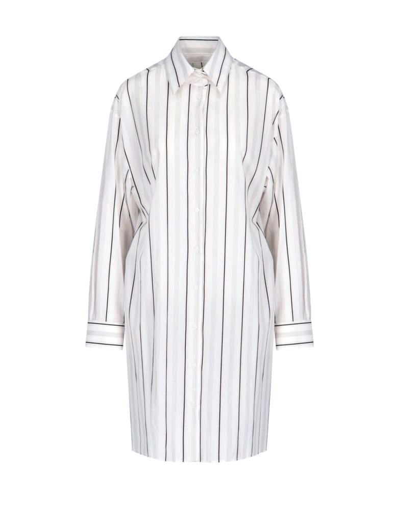 Maison Margiela Striped Shirt Dress - White