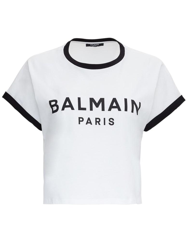 Balmain T-shirt With Logo - White/black